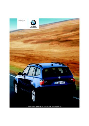 2005 bmw x3 3 0i owner s manual pdf 126 pages rh carmanuals2 com 2004 bmw x3 owners manual pdf 2005 bmw x3 3.0 i owners manual pdf