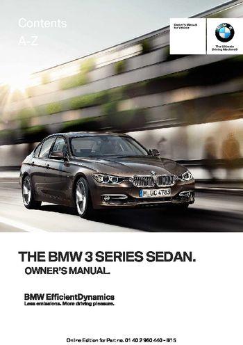 2016 bmw 320i xdrive sedan owner s manual pdf 257 pages rh carmanuals2 com 1995 BMW 525I Owner's Manual BMW 320I Manual Transmission
