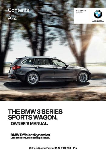 2016 bmw 328i xdrive sports wagon owner s manual pdf 255 pages rh carmanuals2 com bmw 328i owners manual 2008 bmw 328i owners manual download