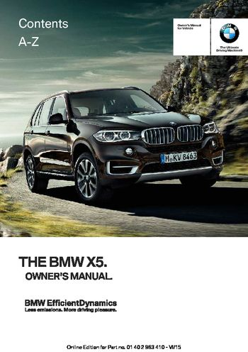 2015 bmw x5 xdrive35i owner s manual pdf 275 pages rh carmanuals2 com 2012 bmw x5 35d owners manual 2011 bmw x5 diesel owners manual
