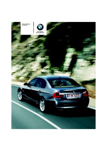 2006 bmw 325xi sedan owner s manual pdf 245 pages rh carmanuals2 com bmw 325i instruction manual bmw 325xi owners manual pdf