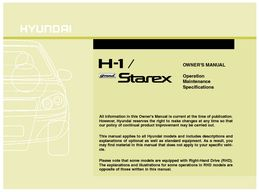 Hyundai H1 Starex Factory Repair Service Manual Pdf Free