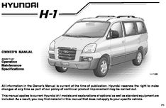 2007 hyundai h 1 grand starex owner s manual pdf 284 pages rh carmanuals2 com hyundai starex user manual hyundai starex 1999 owners manual