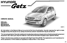 2009 Hyundai Getz - Owner's Manual - PDF (254 Pages)