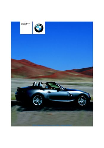 2003 bmw z4 2 5i owner s manual pdf 106 pages rh carmanuals2 com 2004 bmw z4 owners manual pdf 2003 BMW Z4 Convertible