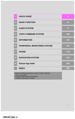 2017 toyota avalon navigation manual pdf 304 pages rh carmanuals2 com 2013 avalon navigation manual 2015 toyota avalon navigation manual