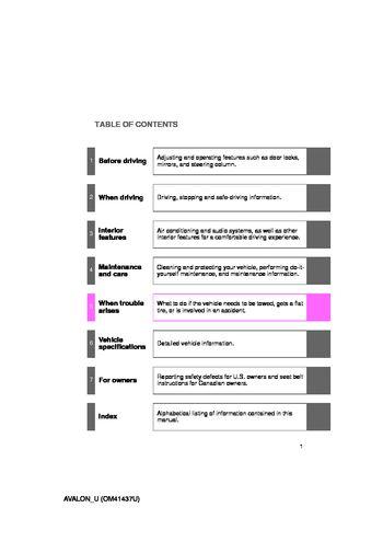 2010 toyota avalon owner s manual pdf 456 pages rh carmanuals2 com 2010 avalon manual 2012 Avalon