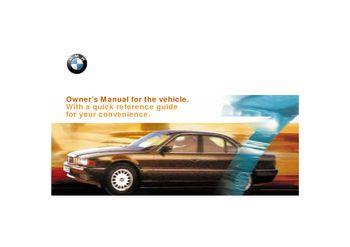 2000 bmw 740il owner s manual pdf 217 pages rh carmanuals2 com 2000 bmw 540i owners manual 2000 bmw z3 service manual pdf
