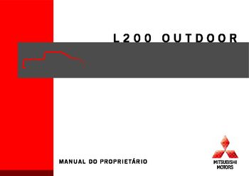 2009 Mitsubishi L200 Outdoor - Manual do proprietário (in