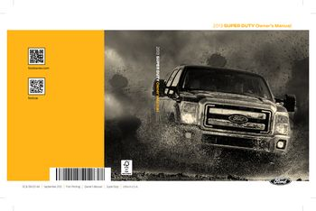 2013 Ford F 250 Owner S Manual Pdf 563 Pages