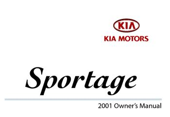 2001 kia sportage owner s manual pdf 303 pages rh carmanuals2 com 2013 kia sportage owner manual kia sportage owners manual 2014