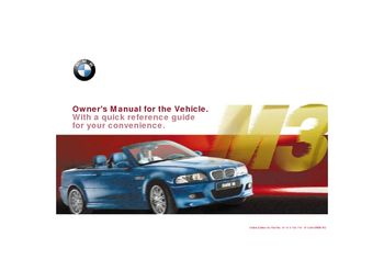 2001 bmw m3 convertible owner s manual pdf 195 pages rh carmanuals2 com 2005 BMW M3 Manual BMW M4