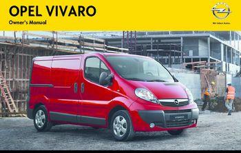 2013 opel vivaro owner s manual pdf 171 pages rh carmanuals2 com opel vivaro service manual+download opel vivaro service manual+download