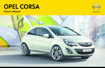 2014 Opel Corsa Owner S Manual Pdf 229 Pages