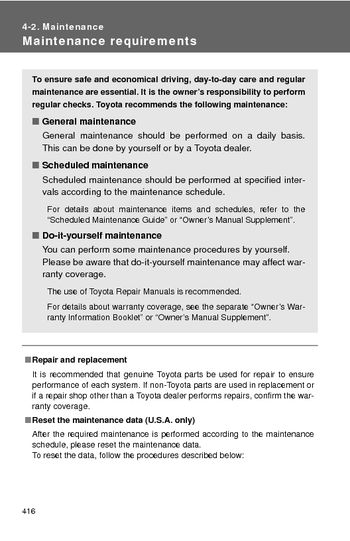 2017 5 Toyota Camry Hybrid Maintenance 7 Pages