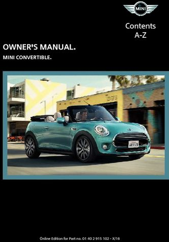 2017 Mini Convertible Owners Manual Pdf 264 Pages