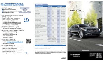 2017 Hyundai Azera Quick Reference Guide Pdf Manual