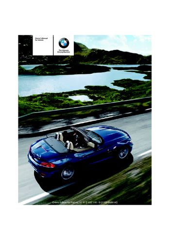 2009 bmw z4 sdrive30i roadster owner s manual pdf 248 pages rh carmanuals2 com 2009 bmw z4 service manual 2009 bmw z4 owners manual pdf