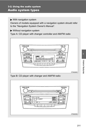 2010 Toyota Camry Using The Audio System Pdf Manual 52 Pages