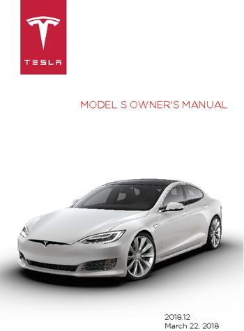 2018 tesla model s owner s manual pdf 195 pages rh carmanuals2 com tesla owners manual model 3 tesla owners manual not working