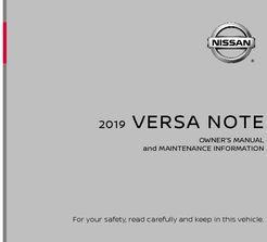 nissan versa owners manual 2019