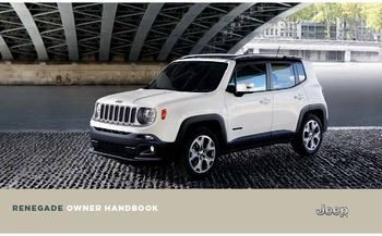 2019 Jeep Renegade Owner S Manual Pdf 332 Pages