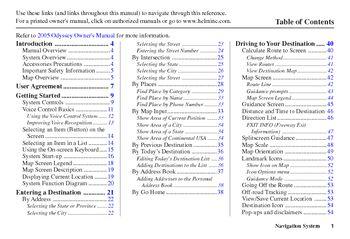 2005 honda odyssey navigation manual pdf 3 pages rh carmanuals2 com 2004 honda odyssey manual repair haynes 2005 honda odyssey manual free pdf