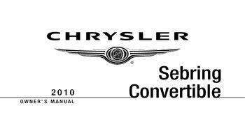 2010 chrysler sebring convertible owner s manual pdf 457 pages rh carmanuals2 com 2010 chrysler sebring owners manual 2010 sebring convertible owners manual