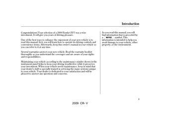 2009 honda cr v owner s manual pdf 373 pages rh carmanuals2 com 2005 CR-V Manual Manual Transmission