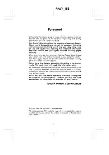 2011 toyota rav4 owner s manual pdf 580 pages rh carmanuals2 com 2012 toyota rav4 owners manual pdf 2011 toyota rav4 user manual