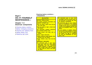 1999 toyota sienna - electrical components (10 pages)