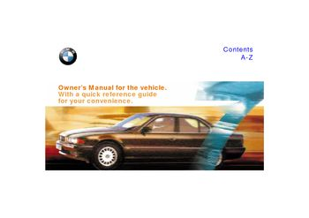 1998 bmw 740il owner s manual pdf 211 pages rh carmanuals2 com 1998 bmw 740i service manual 1990 BMW 740iL