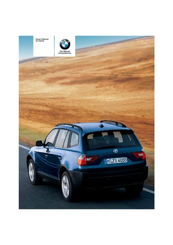 2006 bmw x3 2 5i owner s manual pdf 133 pages rh carmanuals2 com 2009 BMW 2010 X3