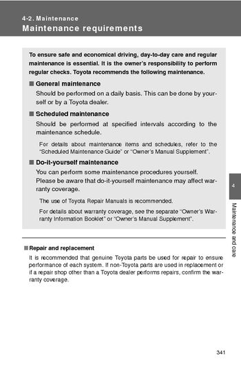 2013 toyota corolla maintenance pdf manual 6 pages rh carmanuals2 com 2007 toyota camry scheduled maintenance guide pdf Maintenance Schedule