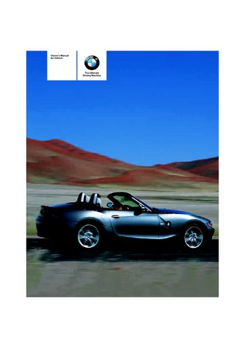2005 bmw z4 2 5i owner s manual pdf 120 pages rh carmanuals2 com Z4 E86 E85 Z4 GT3 Body Kit