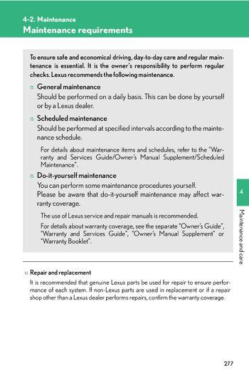 2007 gx470 maintenance schedule