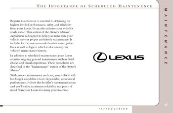 2005 lexus es330 scheduled maintenance guide pdf manual 32 pages rh carmanuals2 com lexus scheduled maintenance guide prices Lexus Maintenance Costs