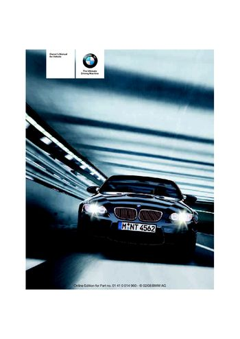 2008 bmw m3 convertible owner s manual pdf 172 pages rh carmanuals2 com 2008 BMW M3 Convertible Blue 2008 Black BMW M3 Convertible