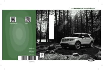 ford explorer owners manual   pages