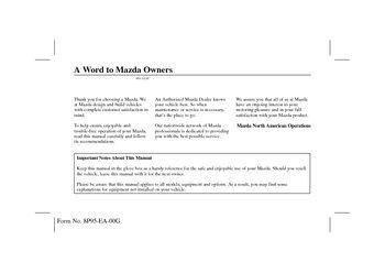 2001 mazda 626 owner s manual pdf 365 pages rh carmanuals2 com 2001 Mazda 626 Automatic 2001 Mazda 626 Wiring Diagrams
