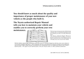 2007 toyota camry repair manual pdf