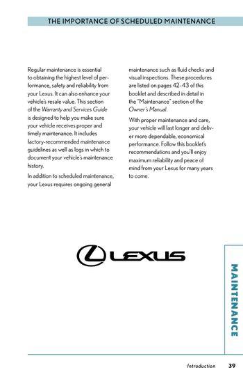 2009 lexus rx350 scheduled maintenance guide pdf manual 32 pages rh carmanuals2 com 2009 Infiniti G37x AWD 2012 Infiniti
