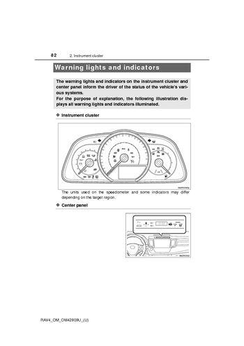 2013 Toyota Rav4 Instrument Cluster Pdf Manual 13 Pages