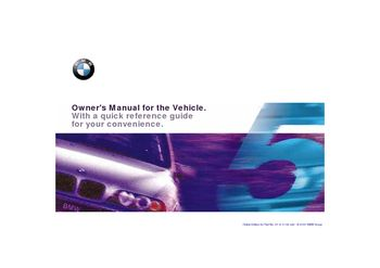 2001 bmw 530i owners manual pdf