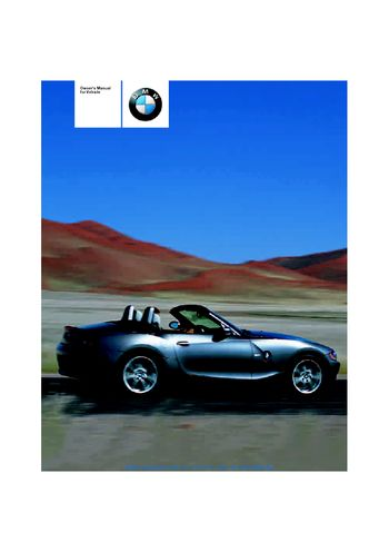 2004 bmw z4 2 5i owner s manual pdf 120 pages rh carmanuals2 com BMW X5 Manual 2005 bmw z4 owners manual pdf