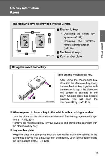 2010 toyota camry hybrid key information pdf manual 2 pages. Black Bedroom Furniture Sets. Home Design Ideas