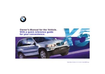 2001 bmw x5 4 4i owner s manual pdf 223 pages rh carmanuals2 com 2001 bmw x5 4.4i service manual 2001 bmw x5 service manual pdf