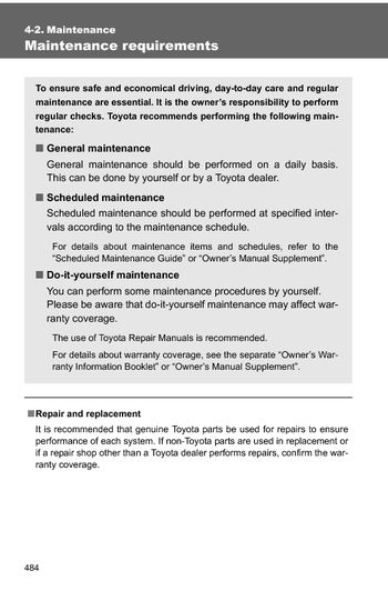 Charming 2010 Toyota 4Runner   Maintenance (8 Pages)
