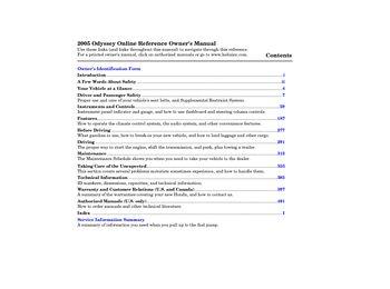 2005 honda odyssey owner s manual pdf 414 pages rh carmanuals2 com 2007 Odyssey 2010 Odyssey