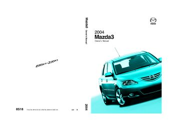 2004 mazda 3 - owner's manual - pdf (375 pages)